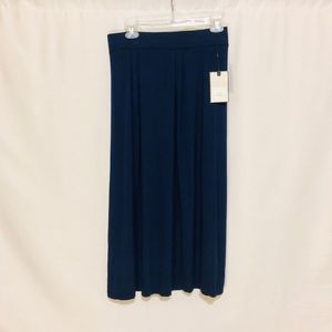 DANA BUCHMAN NAVY KNIT MAXI SKIRT